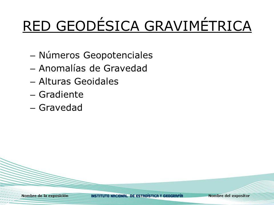 RED GEODÉSICA GRAVIMÉTRICA
