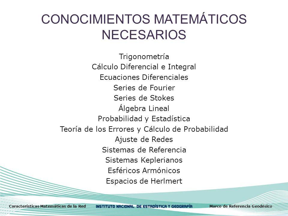CONOCIMIENTOS MATEMÁTICOS NECESARIOS