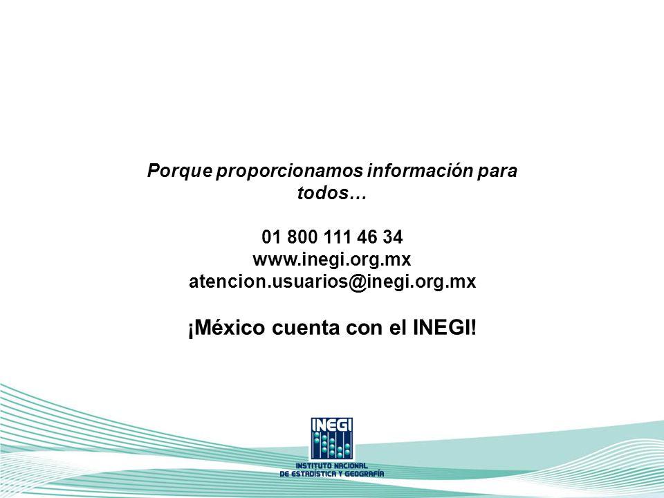 Porque proporcionamos información para todos… 01 800 111 46 34 www