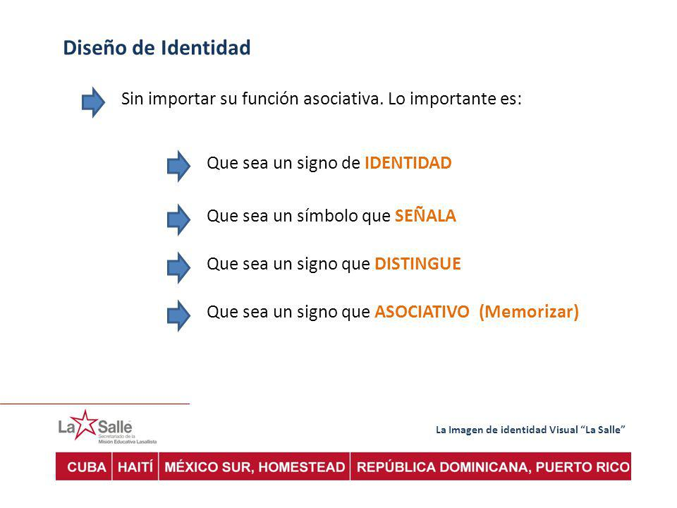 Diseño de Identidad Sin importar su función asociativa. Lo importante es: Que sea un signo de IDENTIDAD.