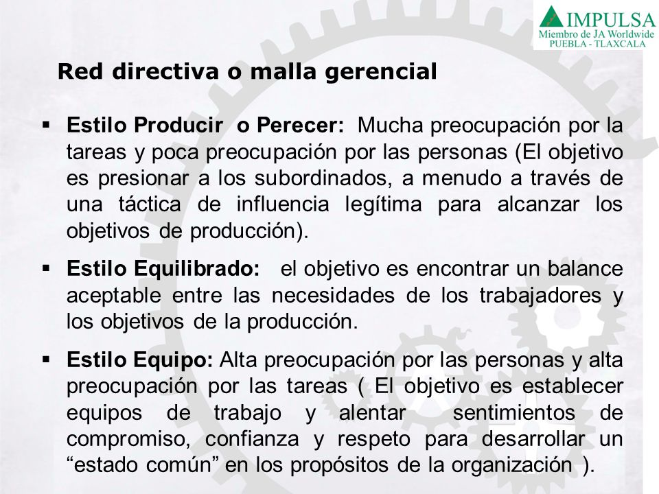 Red directiva o malla gerencial