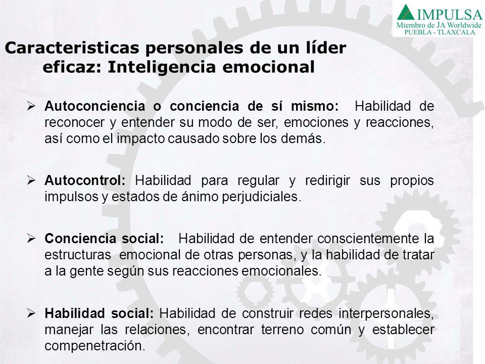 Caracteristicas personales de un líder eficaz: Inteligencia emocional
