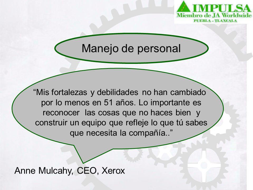 Manejo de personal Anne Mulcahy, CEO, Xerox