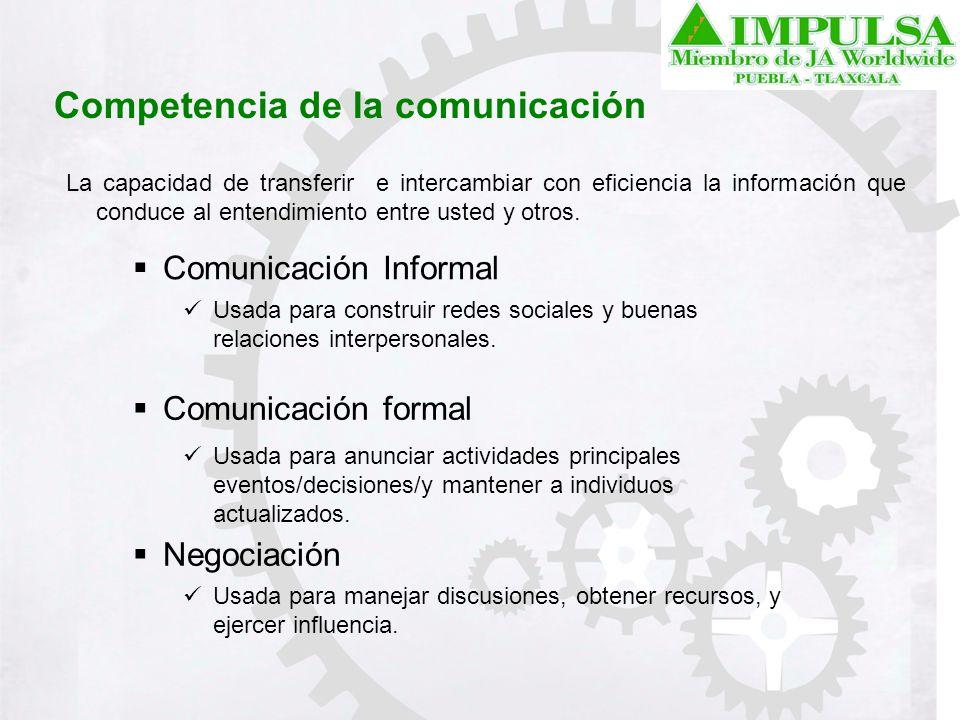 Competencia de la comunicación