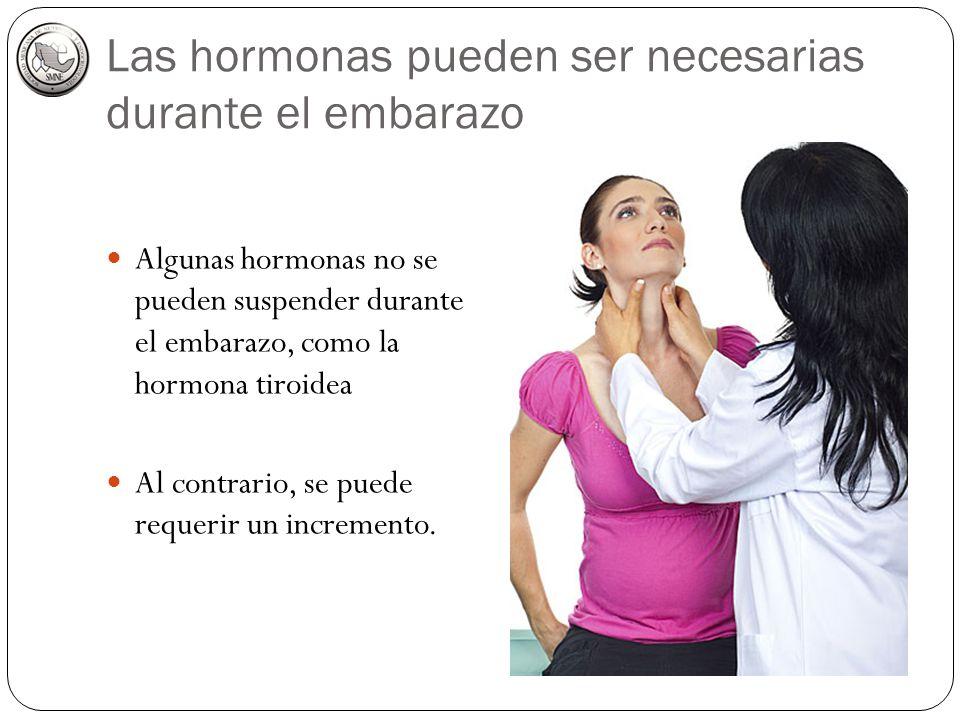 Las hormonas pueden ser necesarias durante el embarazo