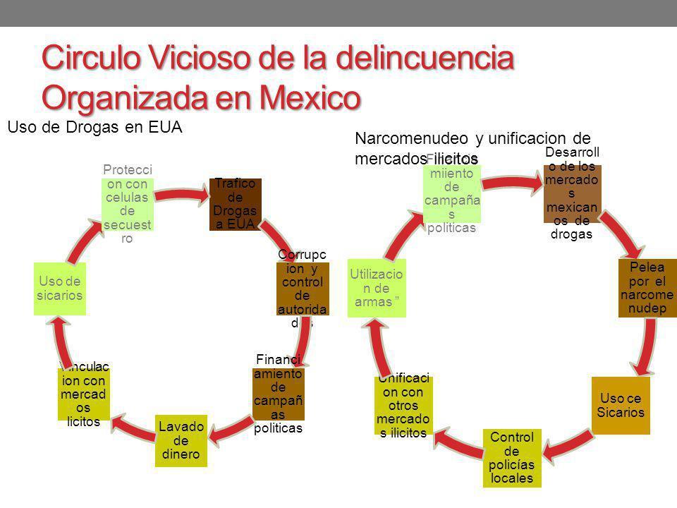 Circulo Vicioso de la delincuencia Organizada en Mexico