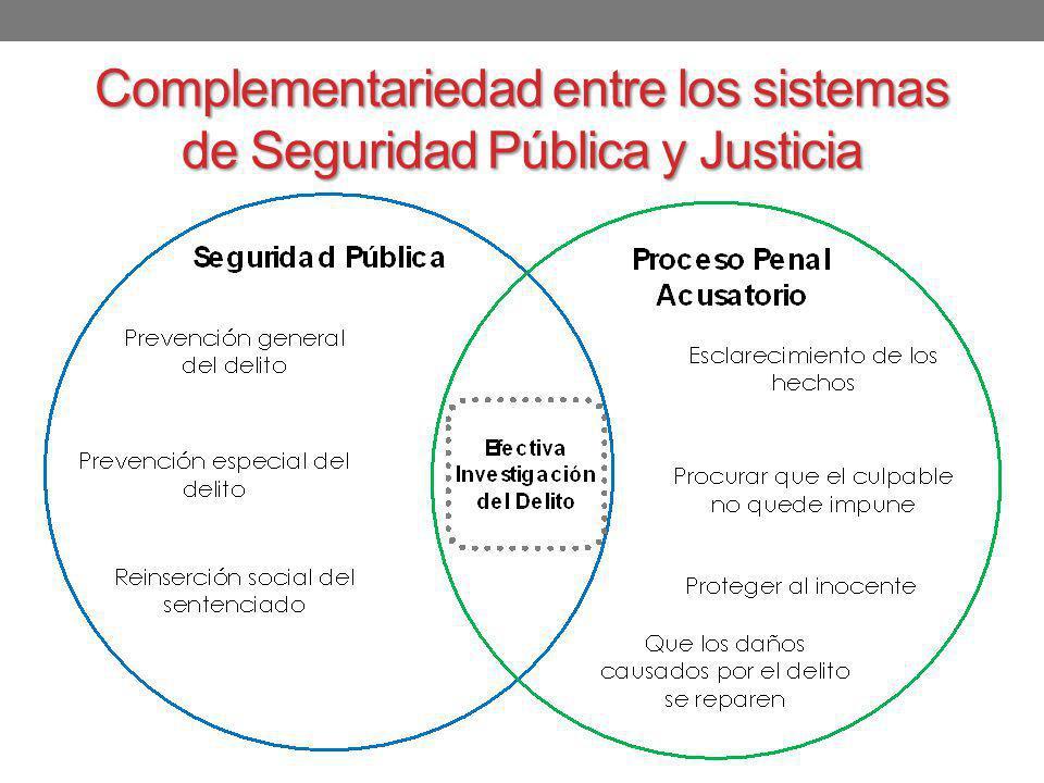 Complementariedad entre los sistemas de Seguridad Pública y Justicia