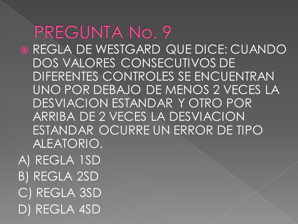 PREGUNTA No. 9