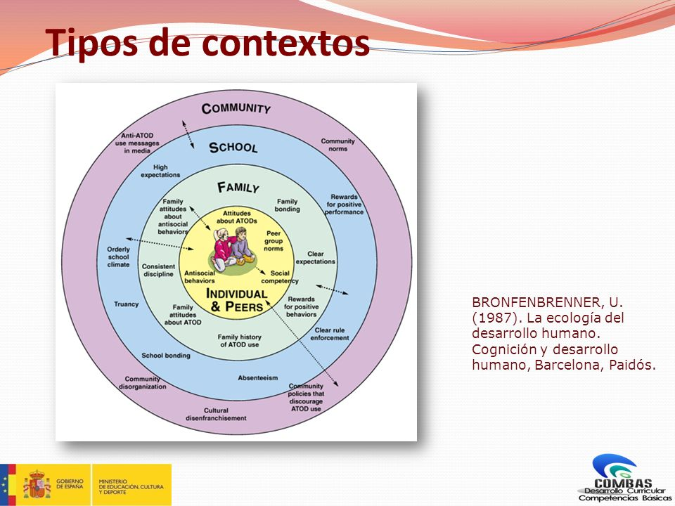 Tipos de contextos BRONFENBRENNER, U. (1987). La ecología del desarrollo humano.