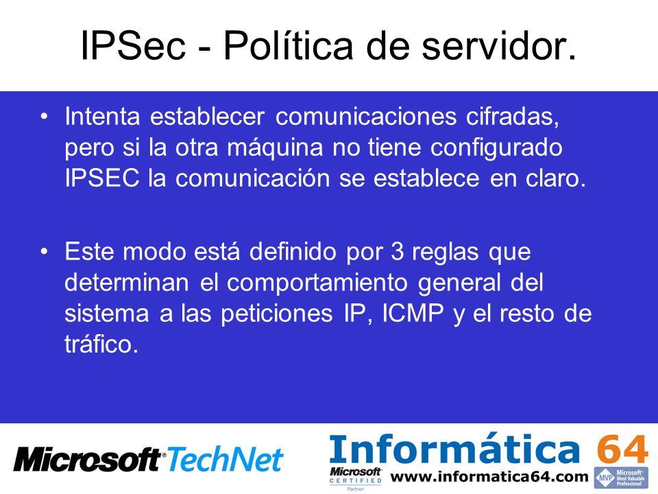 IPSec - Política de servidor.