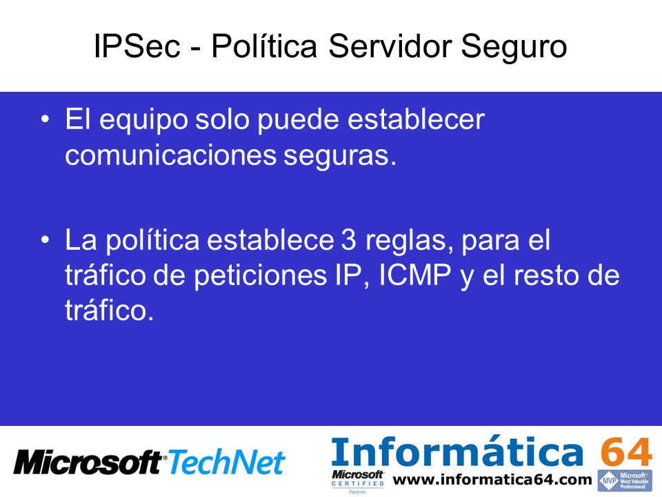IPSec - Política Servidor Seguro