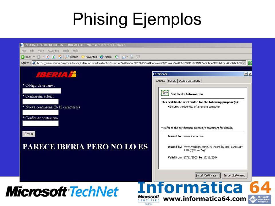 Phising Ejemplos