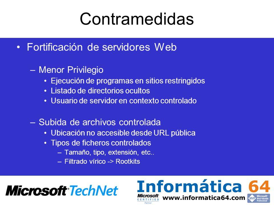 Contramedidas Fortificación de servidores Web Menor Privilegio