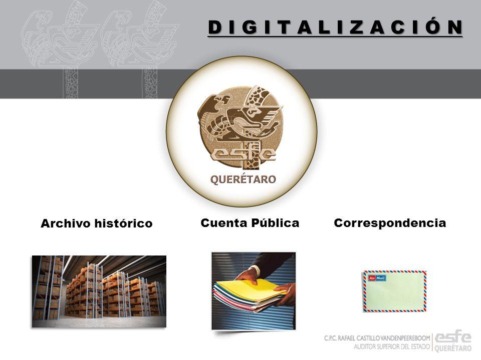 DIGITALIZACIÓN D I G I T A L I Z A C I Ó N Archivo histórico