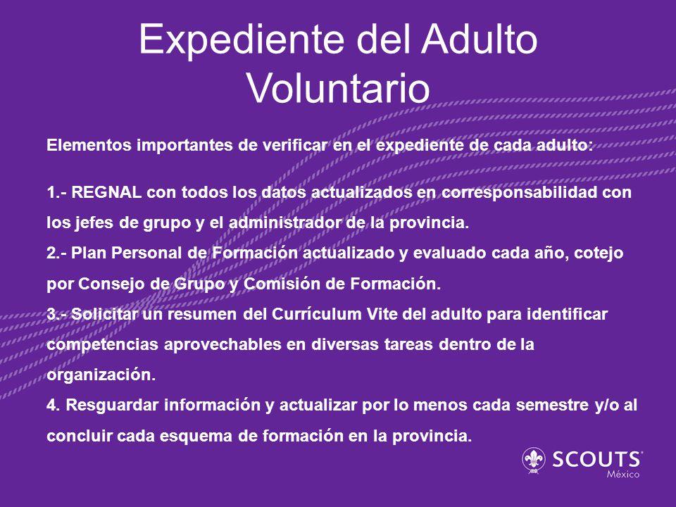 Expediente del Adulto Voluntario