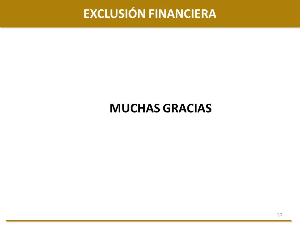EXCLUSIÓN FINANCIERA MUCHAS GRACIAS