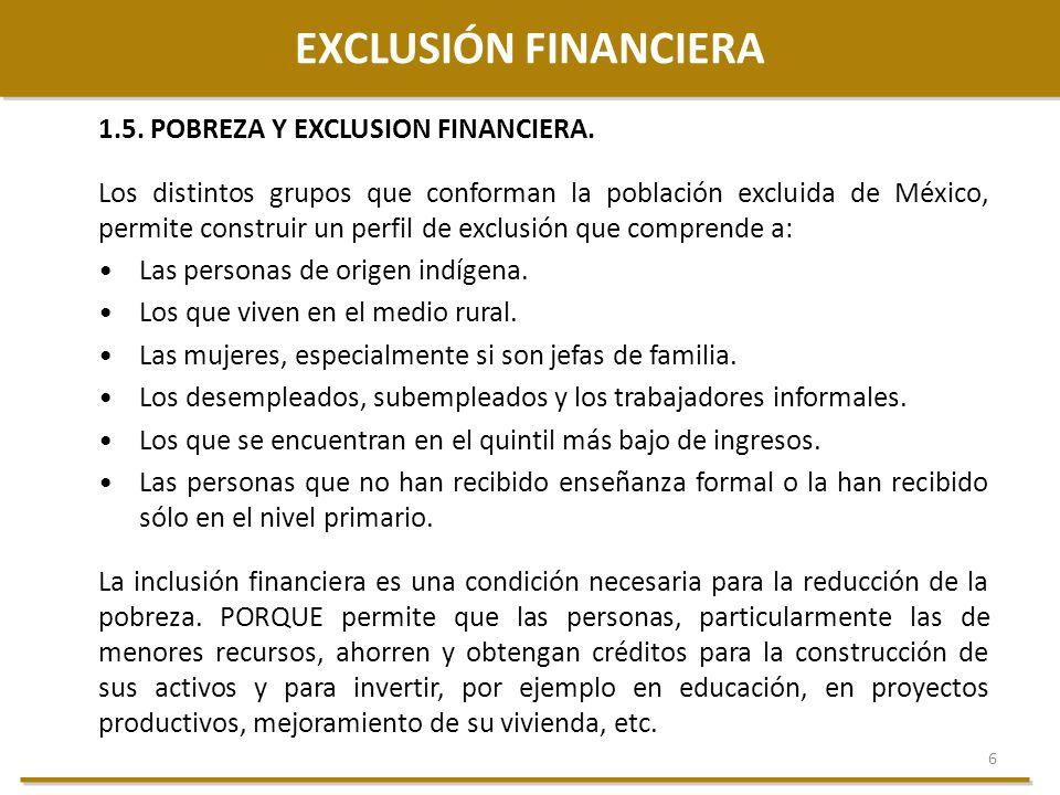 EXCLUSIÓN FINANCIERA