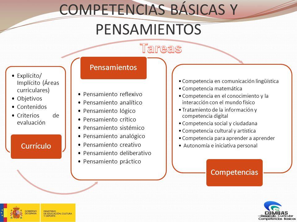 COMPETENCIAS BÁSICAS Y PENSAMIENTOS