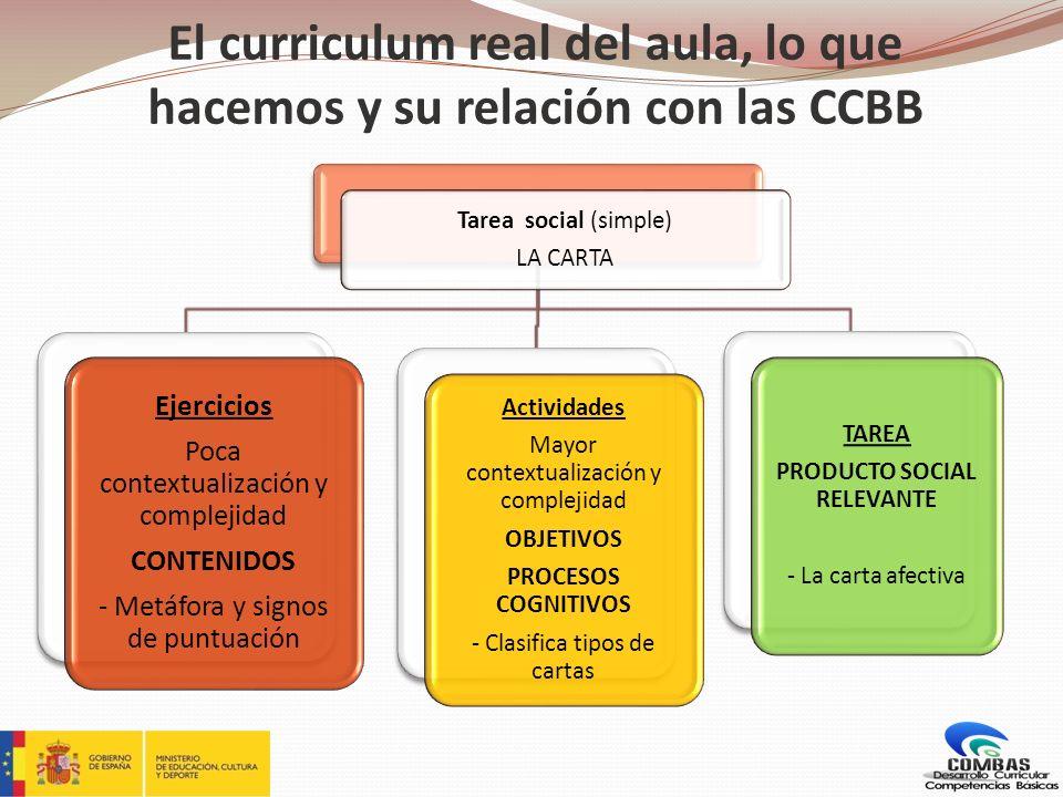 El curriculum real del aula, lo que hacemos y su relación con las CCBB