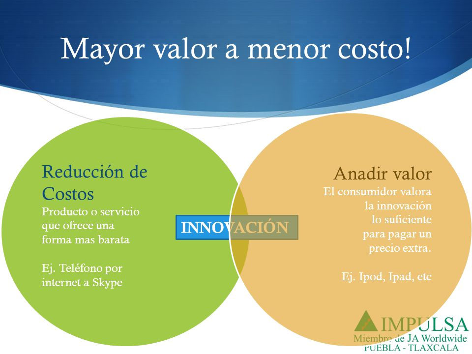 Mayor valor a menor costo!