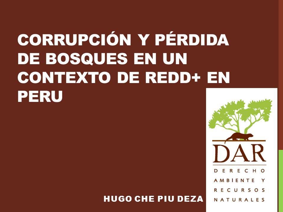 CORRUPCIÓN Y PÉRDIDA DE BOSQUES EN UN CONTEXTO DE REDD+ en PERU