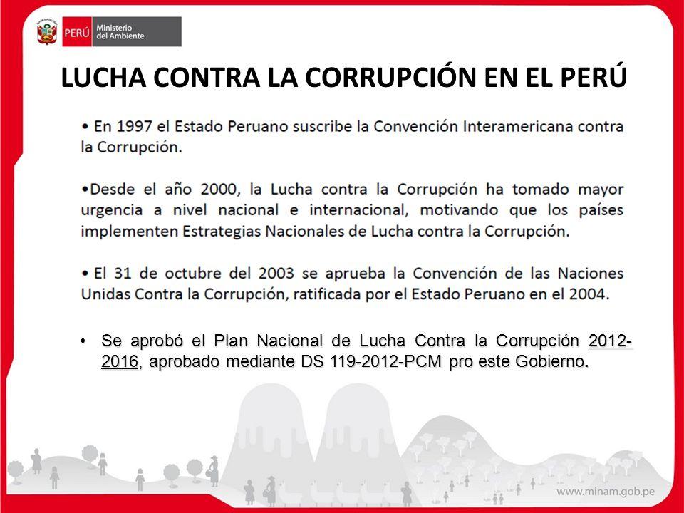 LUCHA CONTRA LA CORRUPCIÓN EN EL PERÚ