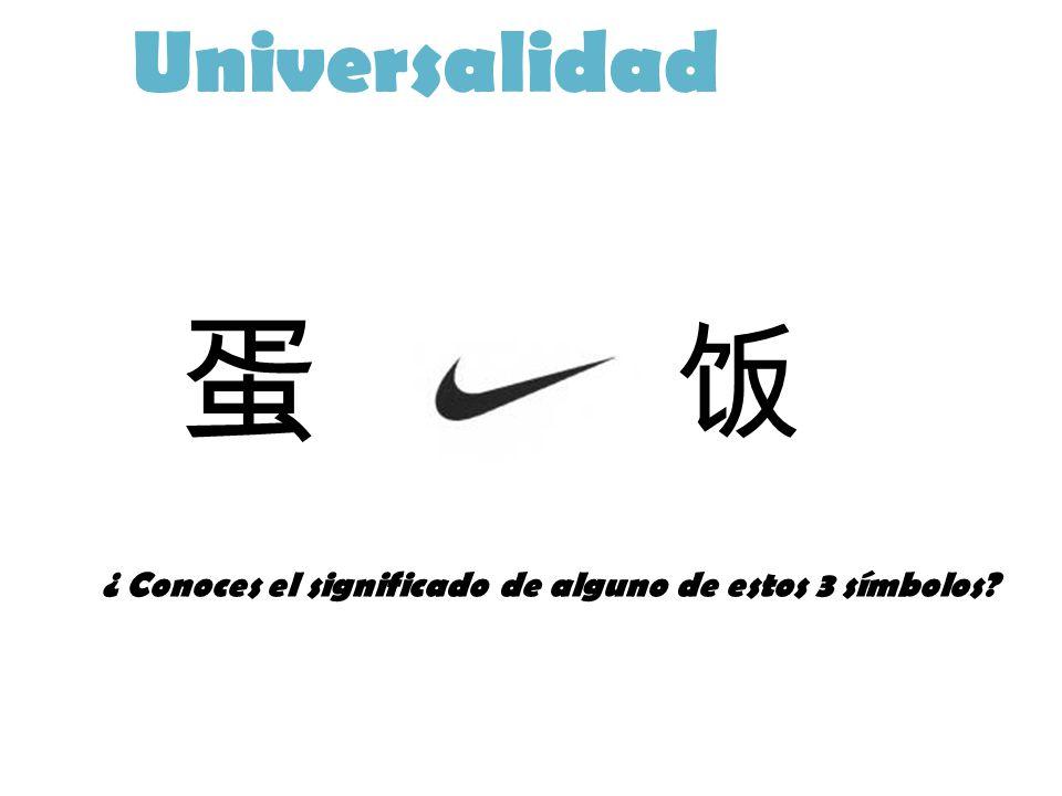 Universalidad 蛋 饭 ¿ Conoces el significado de alguno de estos 3 símbolos