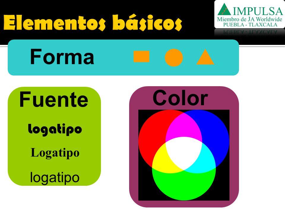 Elementos básicos Forma Fuente Color Logatipo logatipo
