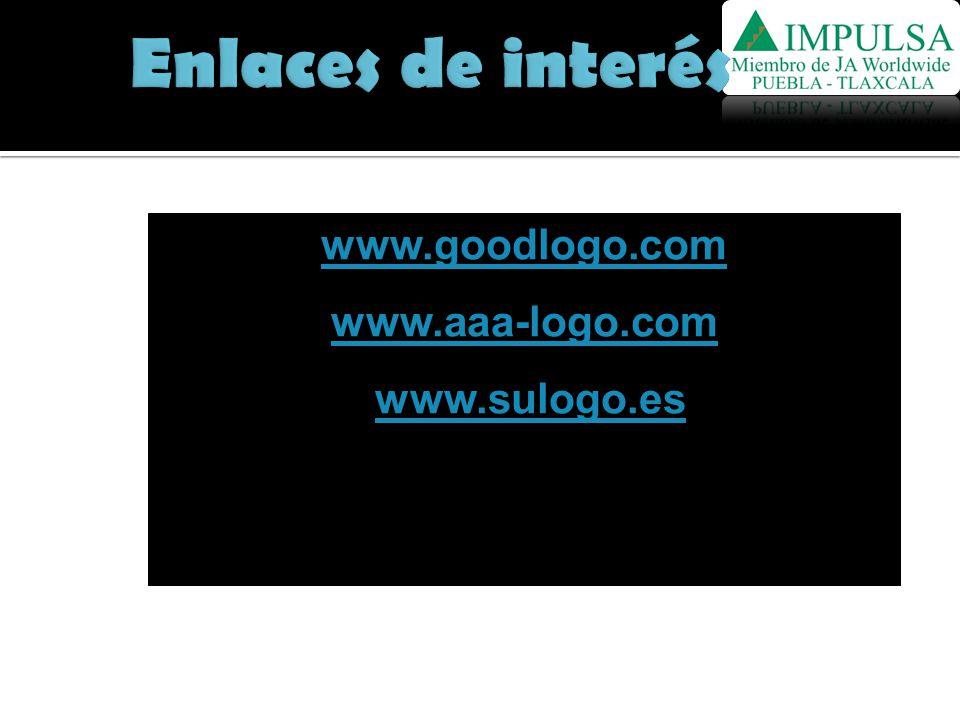 Enlaces de interés www.goodlogo.com www.aaa-logo.com www.sulogo.es