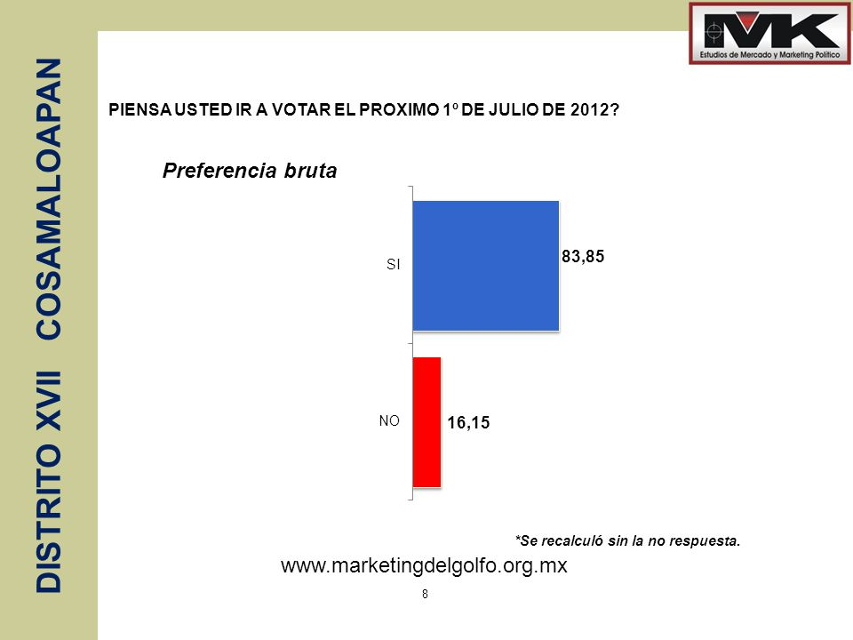 PIENSA USTED IR A VOTAR EL PROXIMO 1º DE JULIO DE 2012