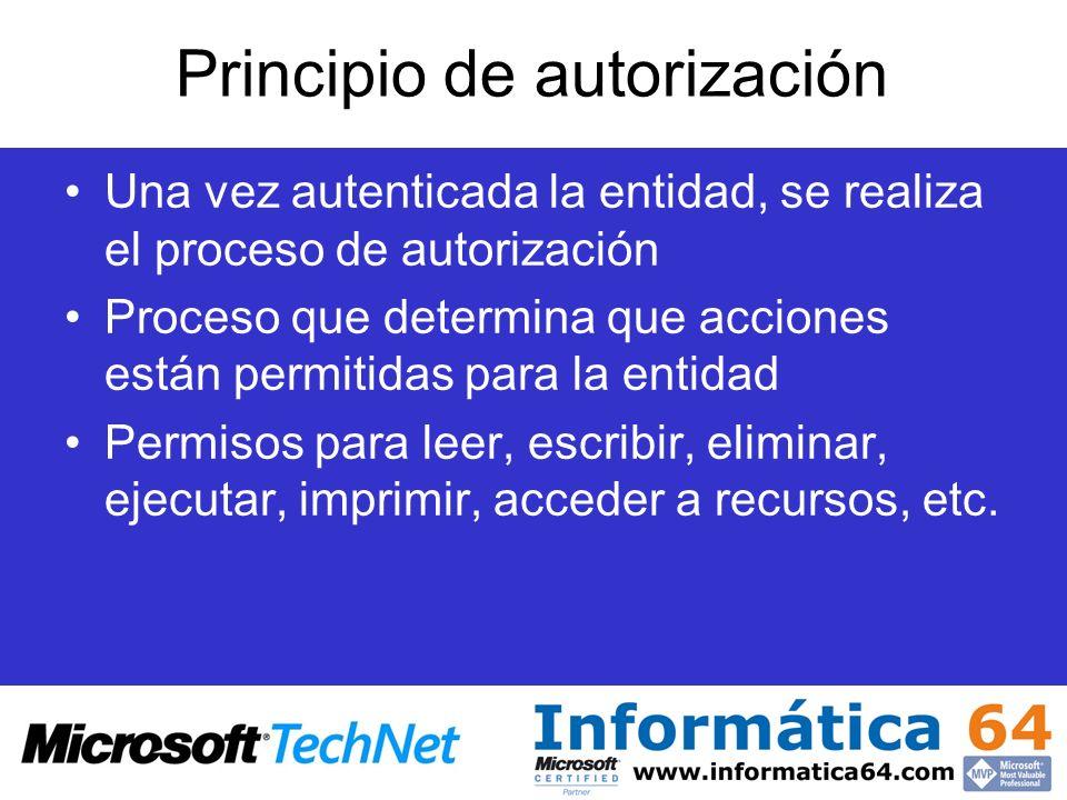Principio de autorización