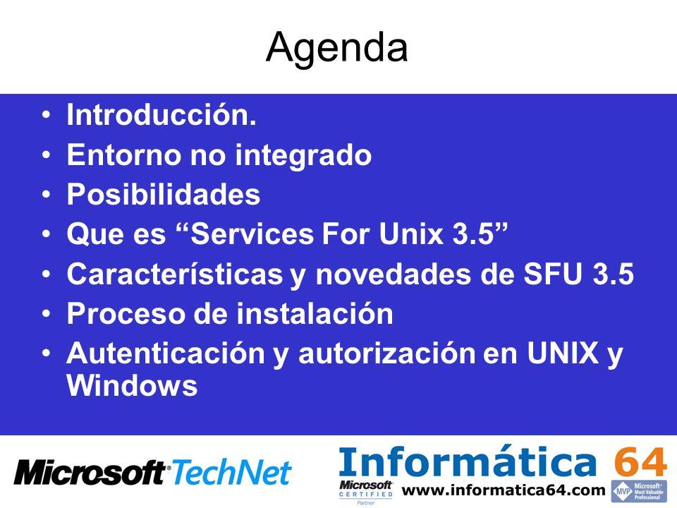 Agenda Introducción. Entorno no integrado Posibilidades