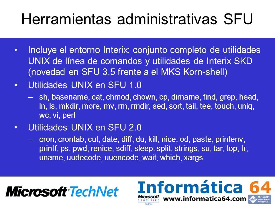 Herramientas administrativas SFU
