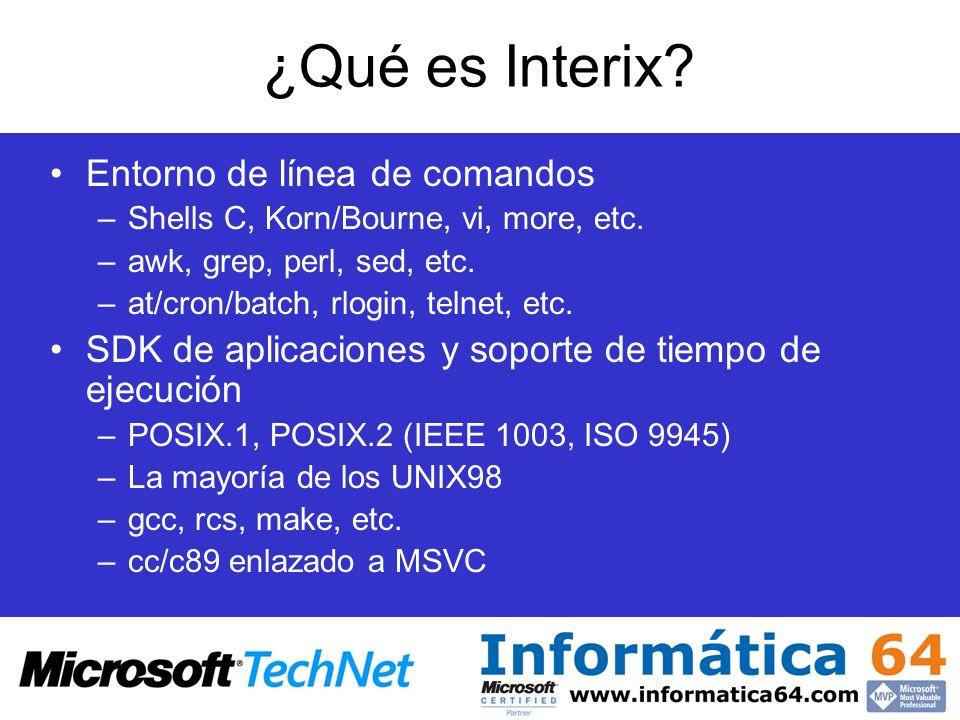 ¿Qué es Interix Entorno de línea de comandos
