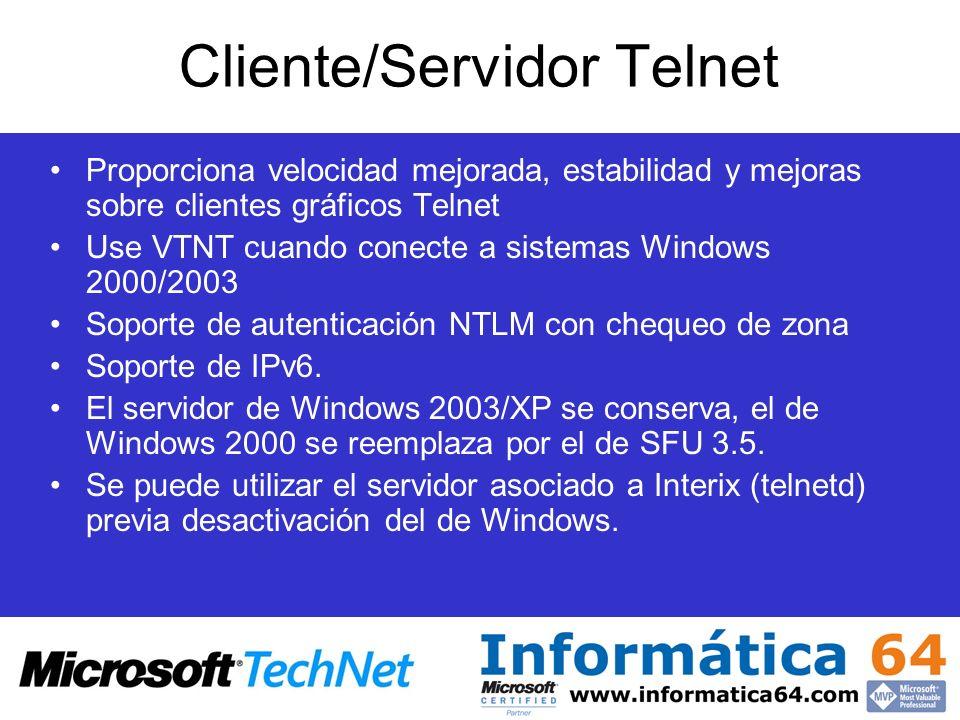 Cliente/Servidor Telnet
