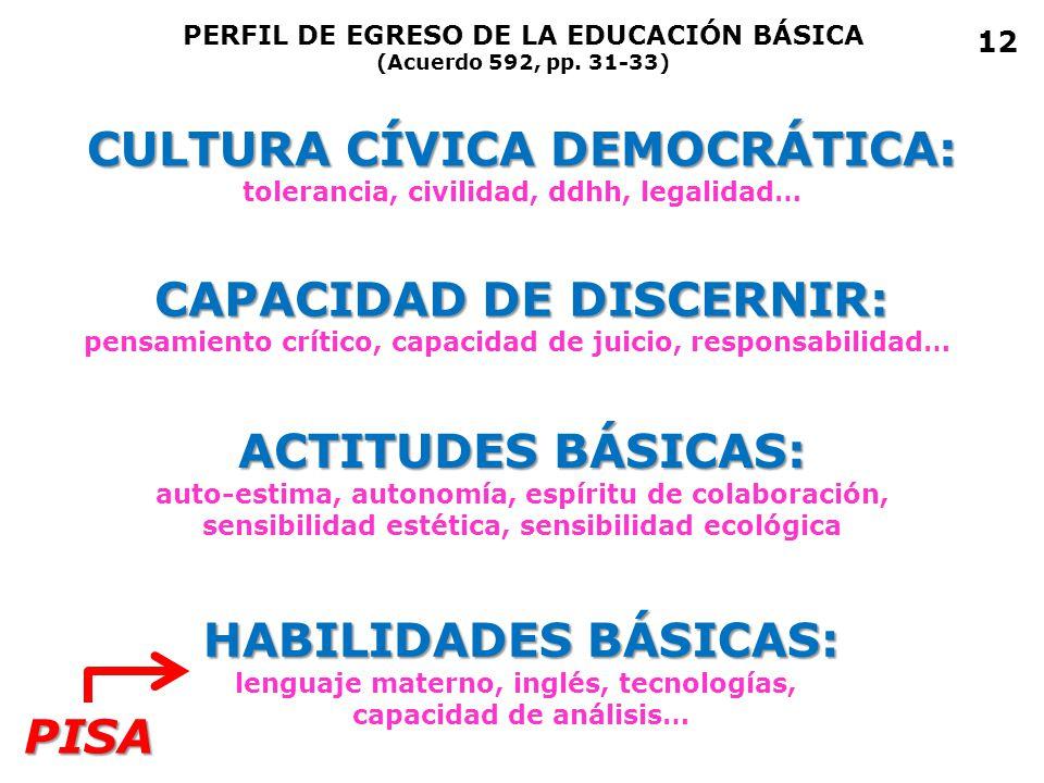 CULTURA CÍVICA DEMOCRÁTICA: