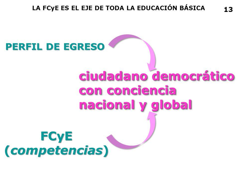 ciudadano democrático con conciencia nacional y global