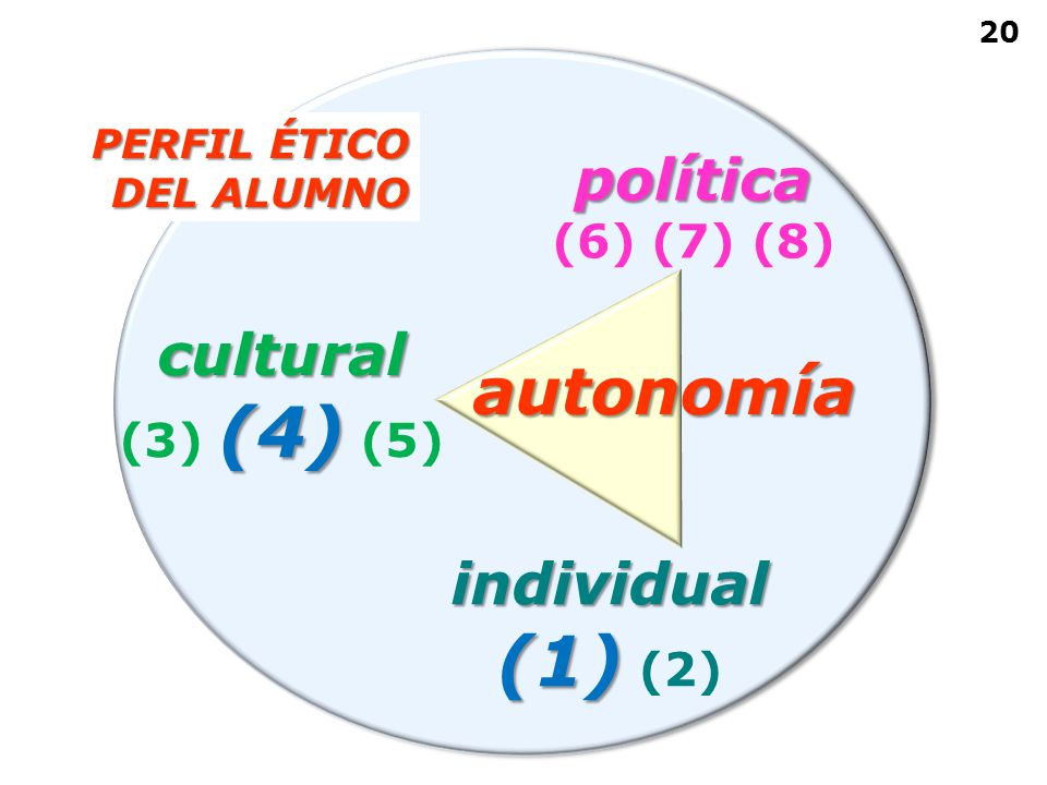 (1) (2) autonomía política cultural individual (6) (7) (8) (3) (4) (5)