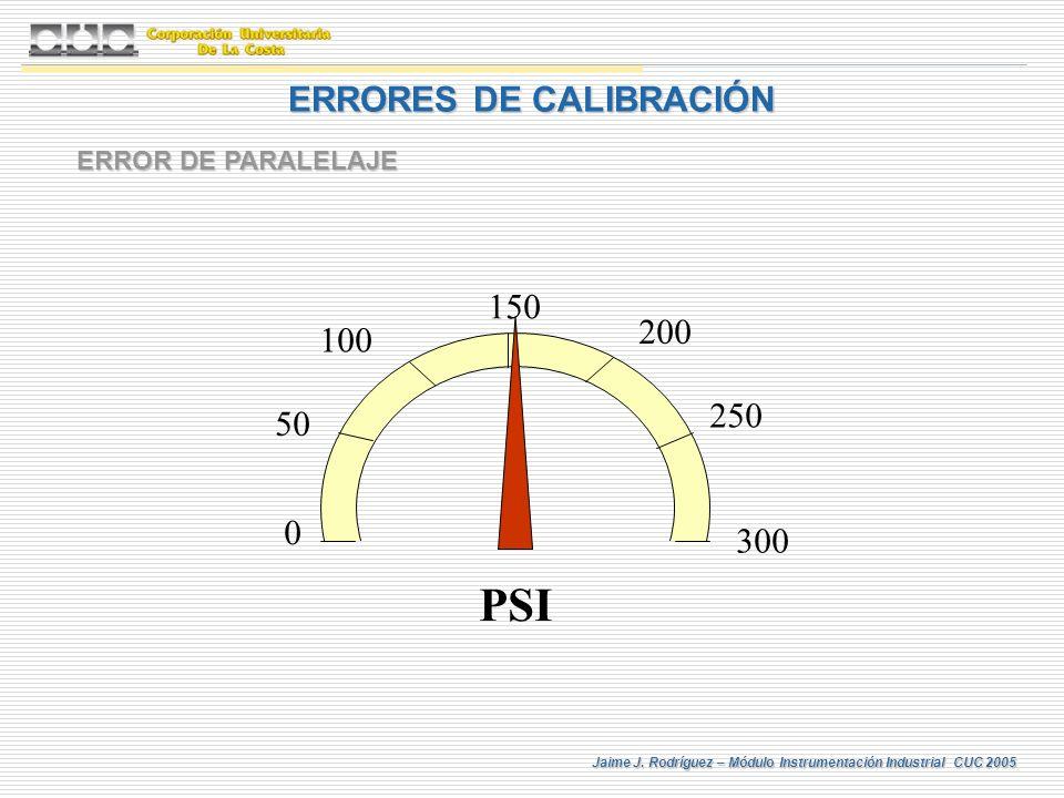 ERRORES DE CALIBRACIÓN