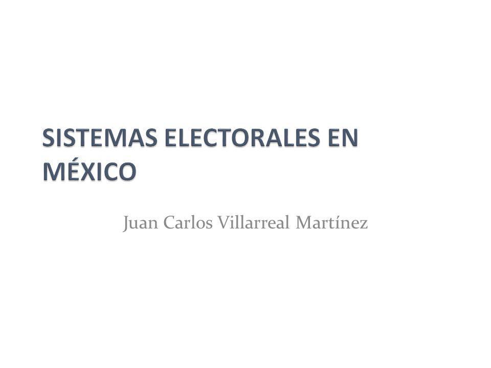 SISTEMAS ELECTORALES EN MÉXICO
