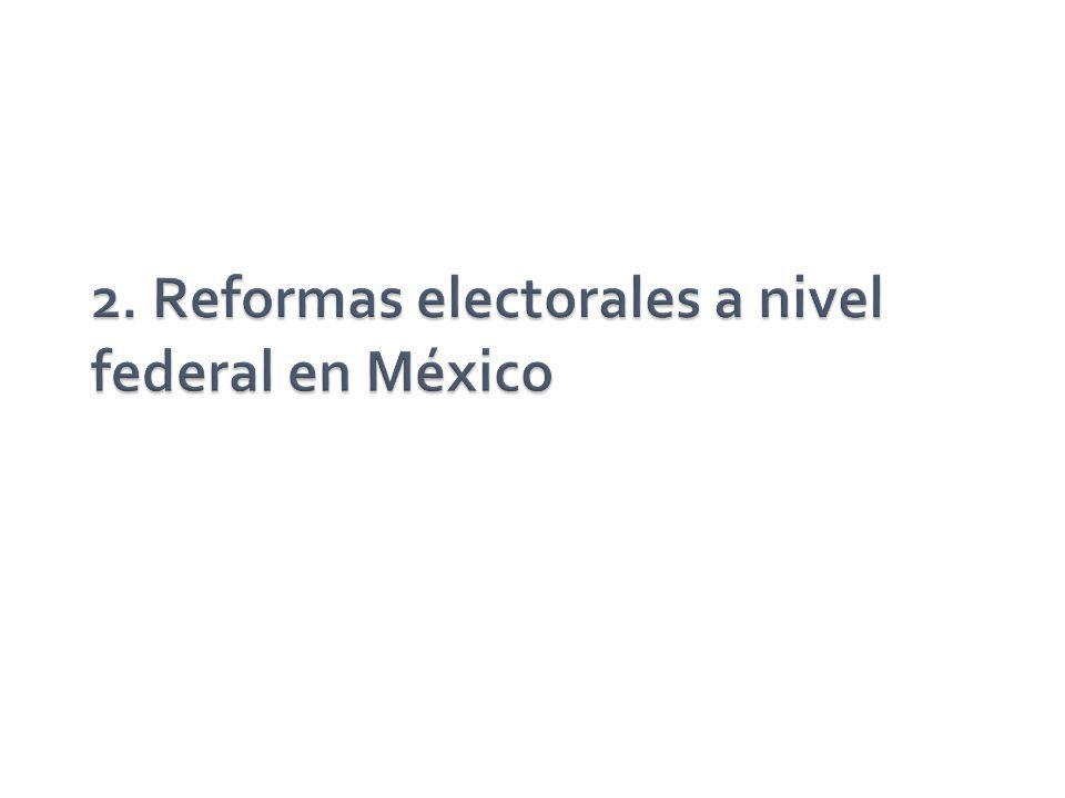 2. Reformas electorales a nivel federal en México