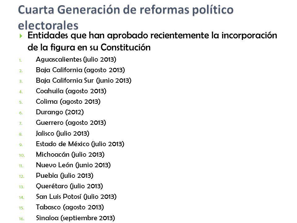 Cuarta Generación de reformas político electorales