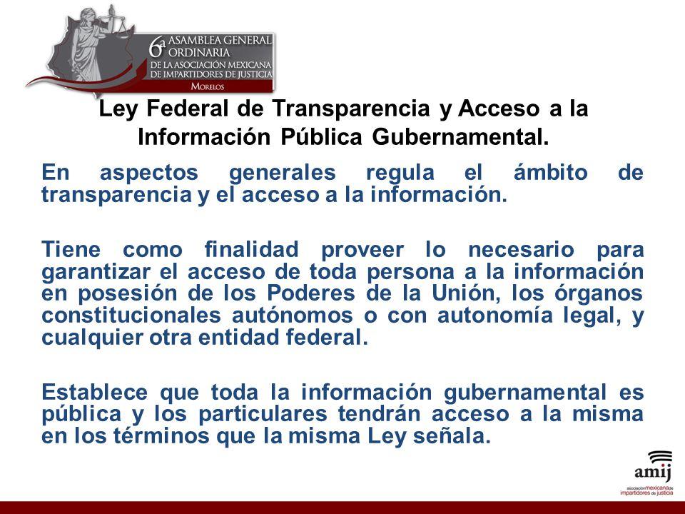 Ley Federal de Transparencia y Acceso a la Información Pública Gubernamental.