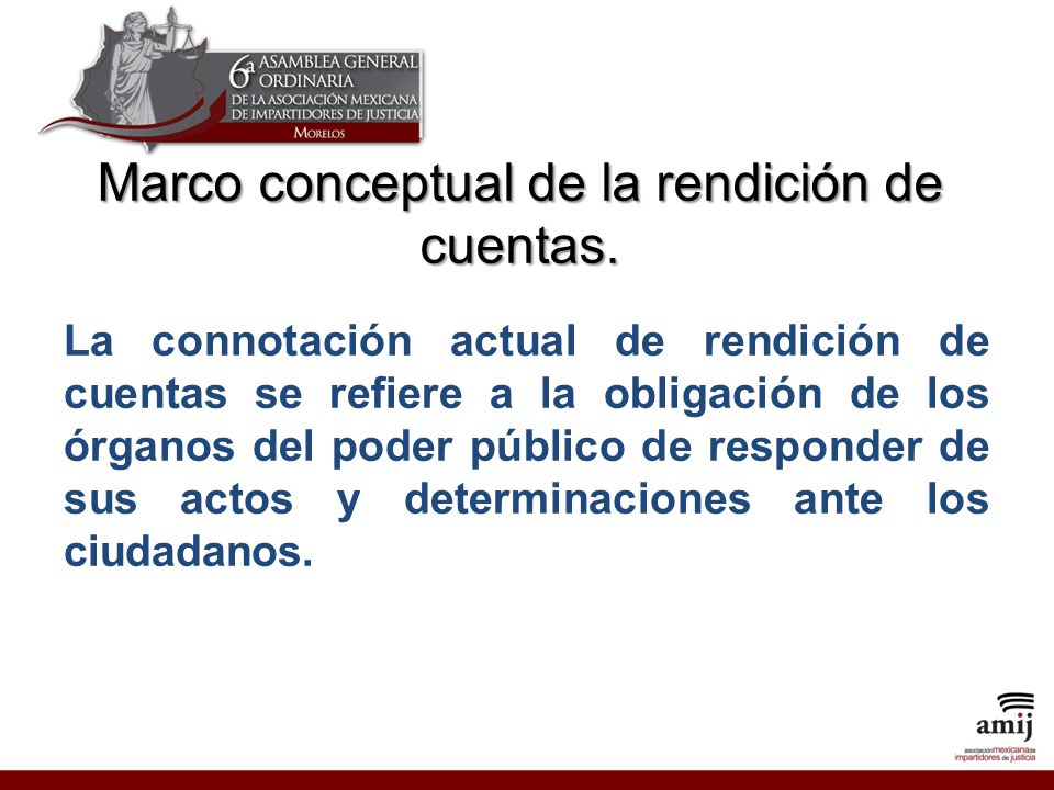Marco conceptual de la rendición de cuentas.