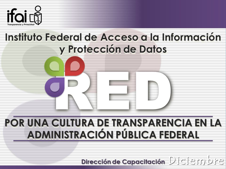 RED Instituto Federal de Acceso a la Información y Protección de Datos