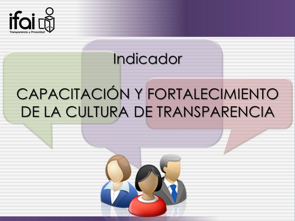CAPACITACIÓN Y FORTALECIMIENTO DE LA CULTURA DE TRANSPARENCIA