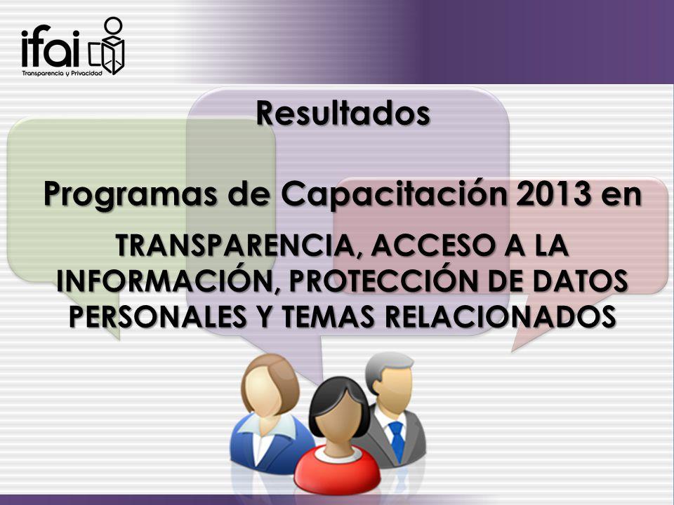 Programas de Capacitación 2013 en