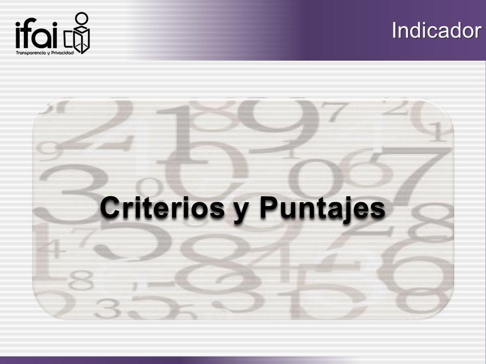 Indicador Criterios y Puntajes