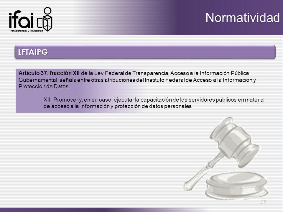 Normatividad LFTAIPG.