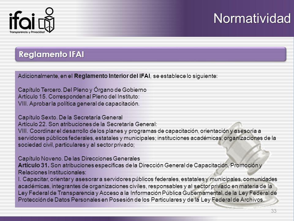 Normatividad Reglamento IFAI